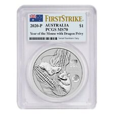 Sale Price - 2020 1 oz Silver Lunar Year of The Mouse Dragon Privy PCGS MS 70 FS