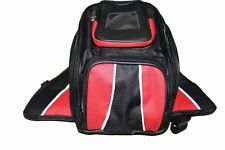 MOTORCYCLE MAGNETIC TANK BAG RED w/ FRONT SMALL POCKET & REFLECTIVE PIPE - V7V