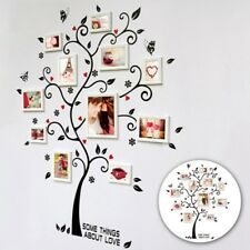 Family Tree Wall Sticker Photo Picture Frame Removable DIY Room Decal Black Hot