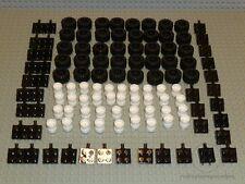 LEGO® City 40 Räder Reifen mit weißen weissen Felgen Achsen Auto Zubehör NEU