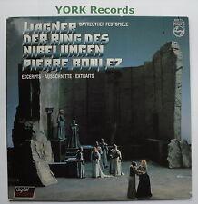 6527 115-WAGNER-L' Anello evidenzia Boulez BAYREUTHER Fest-EX LP RECORD