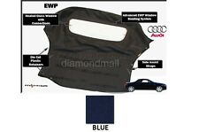 E-Z ON Audi TT 2000-2005 Convertible Soft Top Replacement BLUE Stayfast Cloth