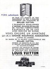 PUBLICITE LOUIS VUITTON MALLES ARMOIRE VALISE BAGAGE DE 1932 FRENCH AD PUB RARE