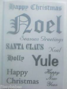 2 x A4 Silver Christmas Sentiment 160gsm Vellum NEW