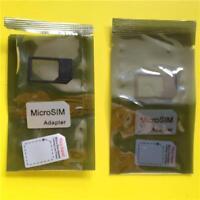 2pc Micro SIM Card Adapter/Holder/Converter for Apple iPad 1/2/3/4 & iPhone 4/4S