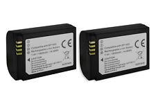 2x Batterie (BP-1900) Premium Edition - (1900 mAh) pour Samsung NX1 Smart Camera