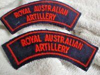 CC ONE SET 2  ROYAL AUSTRALIAN ARTILLERY CLOTH SHOULDER SEW ON PATCH 11 cm