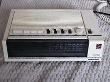 Vintage Rare White Alarm Clock Radio Panasonic Rc 6050 Green Display rc-6050