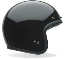 BELL CUSTOM 500 SOLID BLACK CHOPPER CLASSIC MOTORCYCLE OPEN FACE CRASH HELMET
