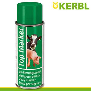 Kerbl 500ml Viehzeichenspray Top Marker grün Markierung Weide Stall Kühe Schwein