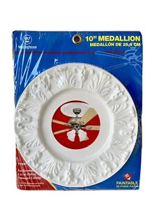 Westinghouse 7702700 10 White Victorian Molded Plastic Ceiling Medallion