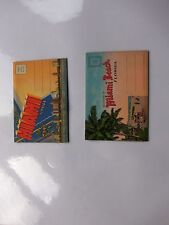TWO 1934 MIAMI BEACH FOLD OUT POST CARD SOUVENIR  ALBUMS NEVER USED