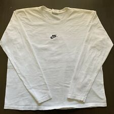 Vintage 90s Nike Mini Center Swoosh Logo White Tag Long Sleeve XL Travis Scott