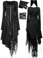 OUTLET Robe zippé gothique punk lolita baroque dentelle rivet sangle Punk Rave