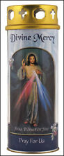 DIVINE MERCY JESUS DEVOTIONAL HOLY CANDLE 100's OF STATUES + PICTURES ARE LISTED