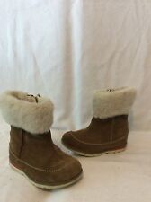 Girls Clarks Brown Suede Boots Size6F