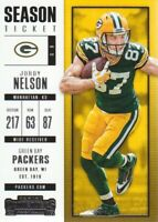 2017 Panini Contenders Football #32 Jordy Nelson Green Bay Packers