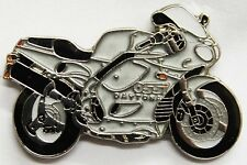 New TRIUMPH White Daytona 955i Motorcycle Enamel Collectors Pin Badge
