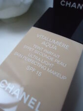 CHANEL 22 Beige Rose Vitalumiere Aqua SPF15 30ml Rare Discontinued New No Box