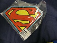 """DC Comics SUPERMAN XL """"S"""" LOGO CHEST/BACK PATCH Iron-on Patch - NEW"""