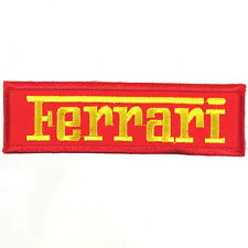 Ferrari Embroidered Patch Embroidery Motor Racing Emblem Mark 103x30mm Red