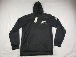 NWT ADIDAS All Blacks RUGBY Hoodie Sweatshirt Black Mens FK9750 Large New