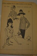 """"""" FEMMES D'AUJOURD'HUI """" PATRON SUPPL. N°783 // LE VRAI VISAGE DU CHEMISIER 1960"""