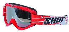 SHOT 13 Race II Motorbike Motorcycle Goggles Anti-fog Clear Lens Tear-off Red