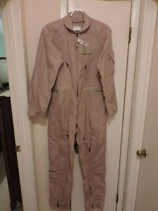 NEW U S MILITARY CWU-27/P COVERALLS FLYERS NOMEX ARAMID FR FLIGHTSUIT 42 R ARMY