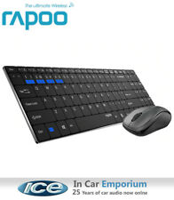 Rapoo 9060M Multi-Mode Wireless Mouse And Ultra-Slim Keyboard Set - Black