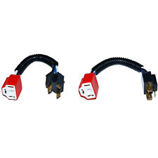 Ceramic H4 Hi Heat Headlight Headlamp Light Bulb Wiring Harness Socket Plug Pair