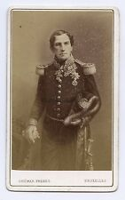 Roi Léopold I par Ghémar Frères Bruxelles Belgique cdv Vintage albumine