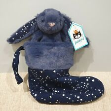 NEW Jellycat Blue Bashful Stardust Bunny Rabbit Stocking Soft Toy scollectors
