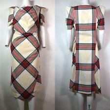 Rare Vtg Vivienne Westwood Ivory Tartan Dress L