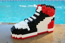 Brand New Black Toe Air Jordan 1 Sneakers Lego Building Blocks Bricks