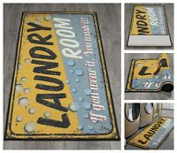 "Laundry Room Runner Rug 20"" x 59"" Carpet Non-Slip Rubber Backing Area Rug"