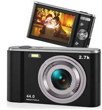 44MP Small Digital Camera for Photography Beginners, 2.7K Vlogging Camera 2.88