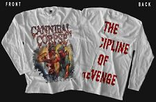 CANNIBAL CORPSE -The Discipline Of Revenge,WHITE T-shirt long sleeve