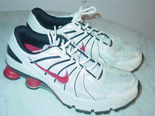 2008 Mens Nike Shox Turbo+ VII White Comet Red Black Silver Shoes! 29800ddcc