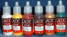 VALLEJO GAME COLOR PAINTS - ANY 6 OF YOUR CHOICE - WATER BASED ACRYLIC 17ml