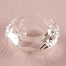 PORTAVELAS PEQUEÑO Joya forma cristal vidrio DETALLE FIESTAS Pack regalo de 6
