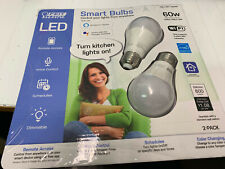 2 FEIT Electric Smart Wi-Fi LED Color Changing Dimmable 60W Bulbs NEW! NIOP