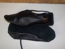 balerines / chaussons de danse-gymnastique -ARENA Milano -cuir, noirs en 35
