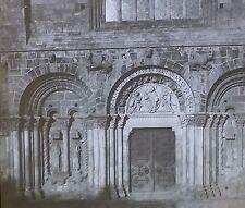Portal of Basilique Saint-Sauveur de Dinan, France, Magic Lantern Glass Slide