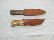 Vtge 1950S Eagle Head Mexico Souvenir Knife & Other Spear Point Carbon Steel