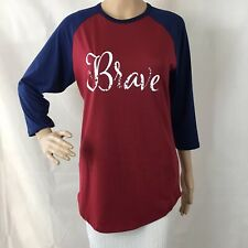 LuLaRoe Randy Top Size S Red White Blue Brave Patriotic Americana