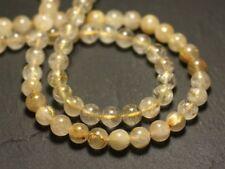 10pc - Perles de Pierre - Quartz Rutile doré Boules 6-7mm - 8741140016644