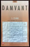Swisstopo 1 : 25 000 Damvant (Land-)Karte, Landkarte Jahrgang 2012
