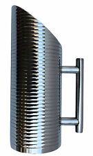 Water Pitcher Stainless Steel Ribbed Finish 1.6 Qts Set of 2