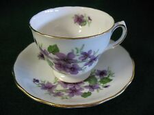 ROYAL VALE BONE CHINA CUP AND SAUCER, VIOLETS, ENGLAND